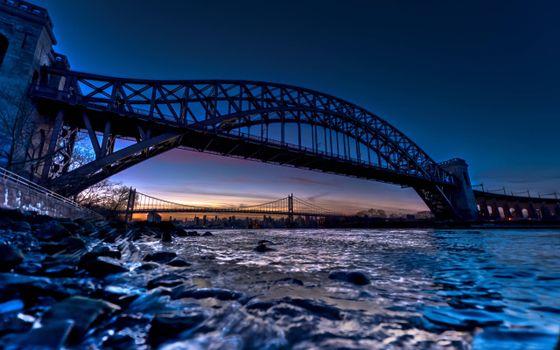Photo free big bridge, Strait, arch