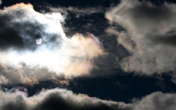 Фото бесплатно ночь, небо, облака, луна, свет