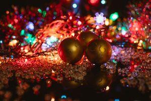 Фото бесплатно фон, новогодние обои, гирлянды
