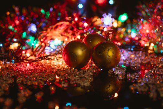 Photo free background, New Year wallpapers, garlands