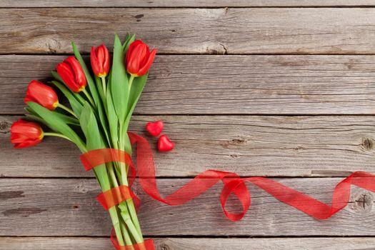 Скачать заставку тюльпаны, цветы