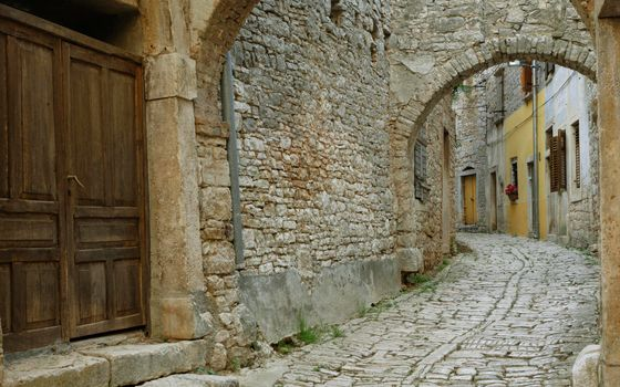 Photo free houses, street, paving stone