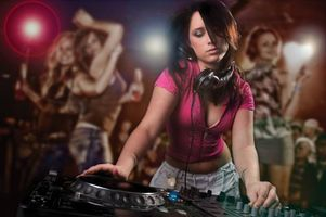 Photo free music, girl, girl DJ