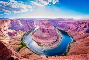Фото бесплатно Horseshoe Bend, Colorado river, Glen Canyon