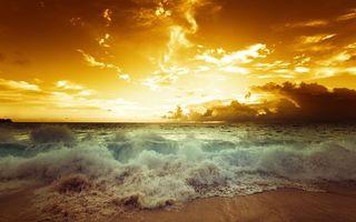 Бесплатные фото волны,берег,пляж,закат