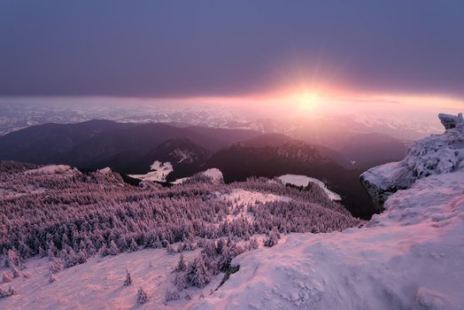 Фото бесплатно Chahleuu, зима, закат