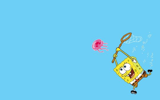 Photo free spongebob, net, bubbles