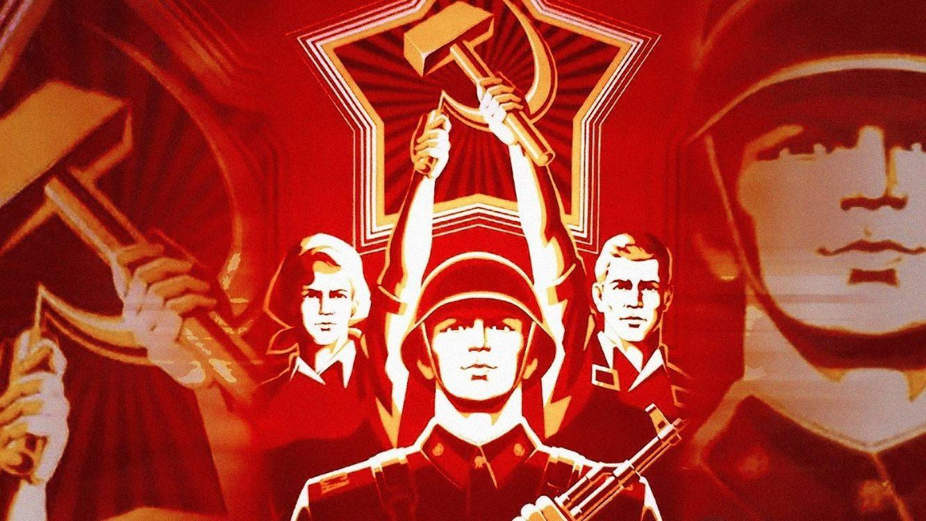 Фото бесплатно Советский Союз, СССР, солдаты, знамя, разное
