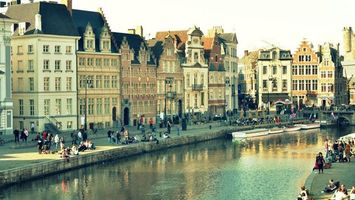 Фото бесплатно канал, река, лодки
