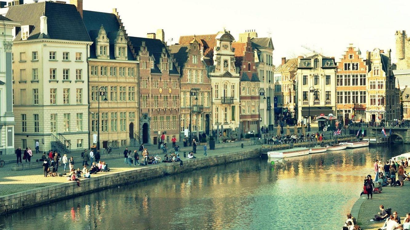 Фото бесплатно канал, река, лодки - на рабочий стол