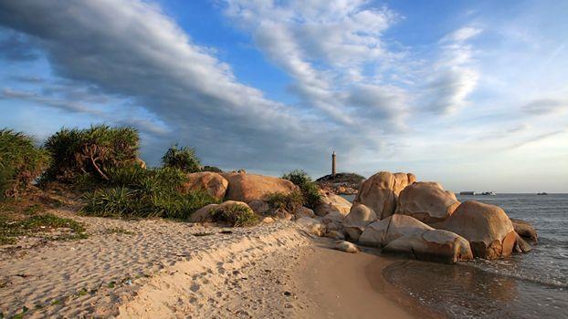 Заставки берег, валуны, песок