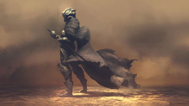 Фото бесплатно мечник, самурай, плащ