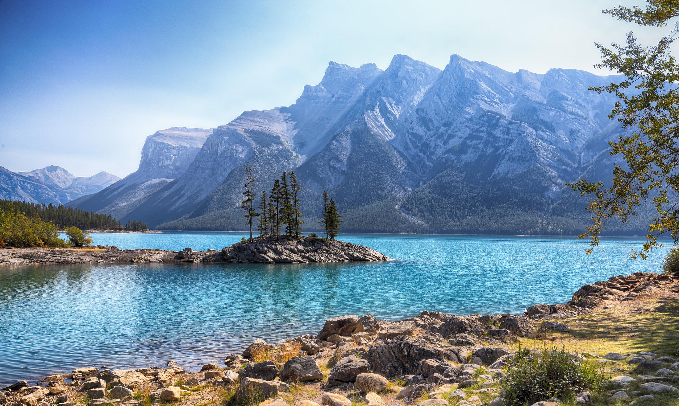 обои Озеро, Minnewanka, Банф, Альберта картинки фото