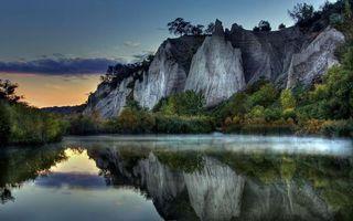 Бесплатные фото река,дымка,деревья,кустарник,гора,обрыв,скалы