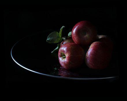 Photo free dish, apples, fruit
