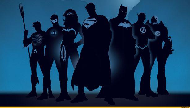 Заставки супергерои, силуэты, комиксы