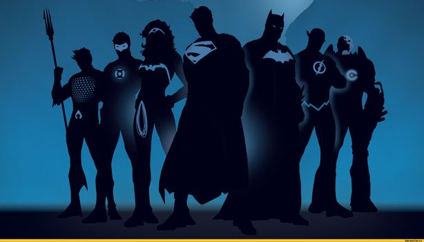Фото бесплатно супергерои, силуэты, комиксы