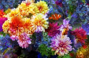 Бесплатные фото цветы, 3d, art