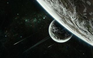 Заставки планеты,звезды,свечение,метеориты,невесомость,вакуум