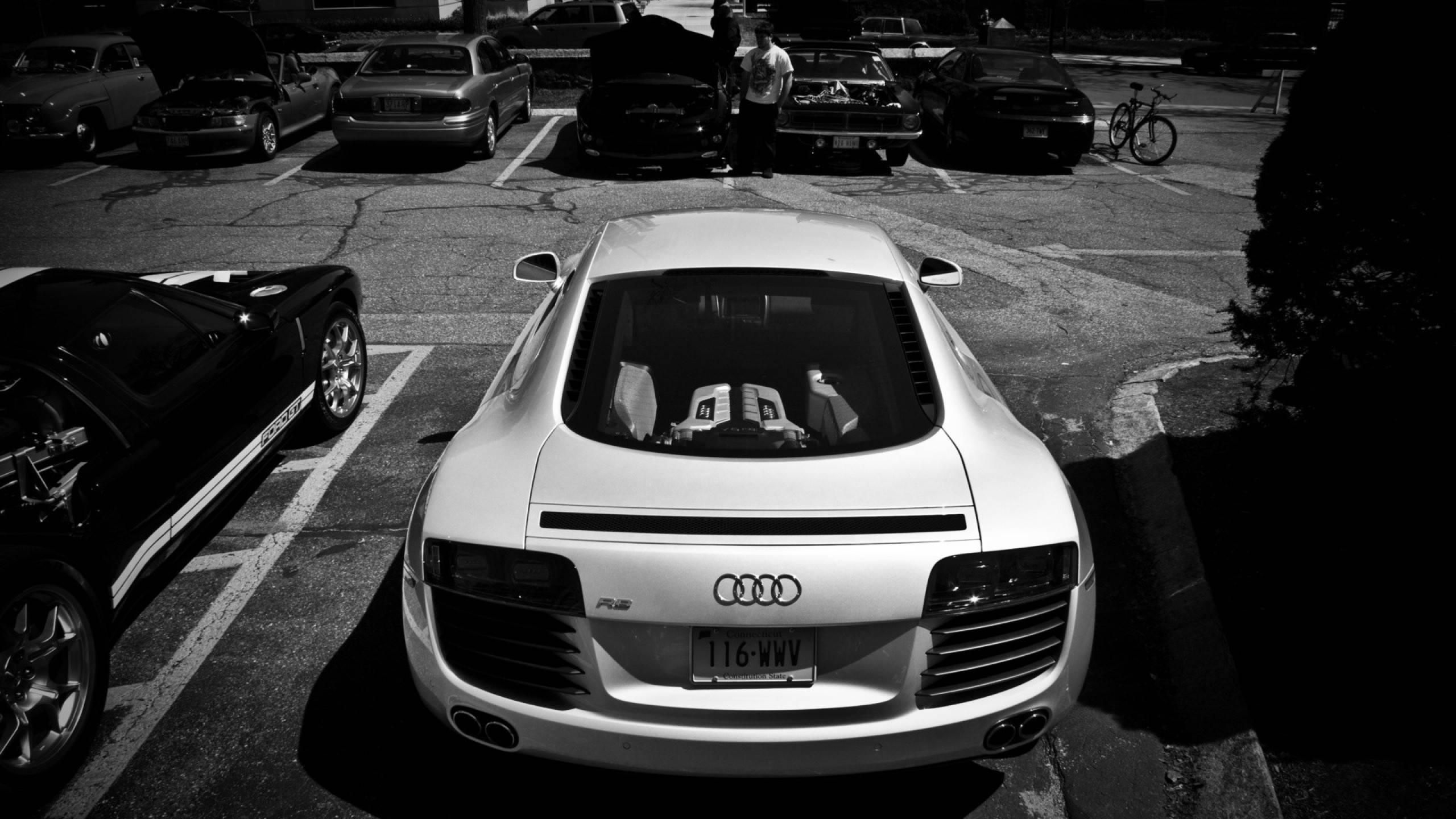 Audi, белая