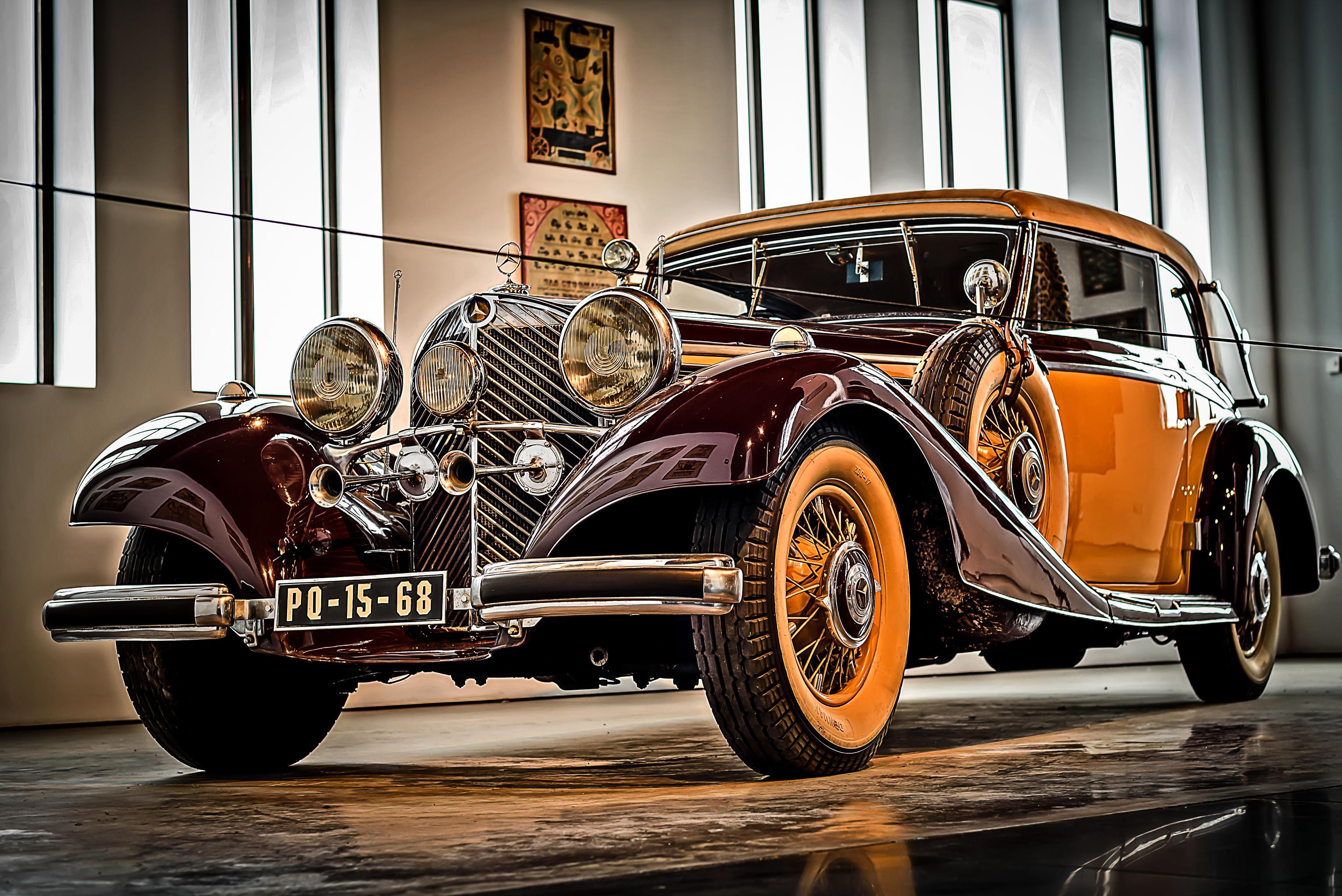 Обои Старинный Мерседес, Музей Автомобилей В Малаге, Малага, Испания