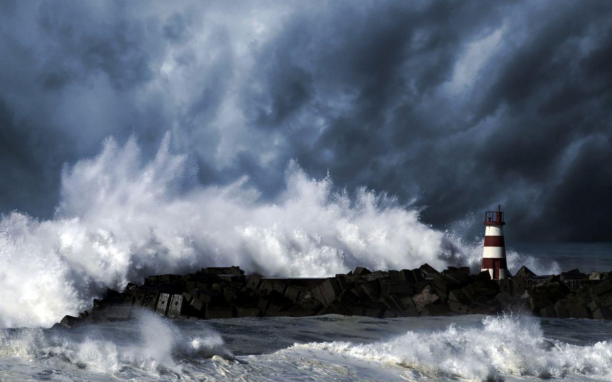 Фото бесплатно берег, море, шторм - на рабочий стол