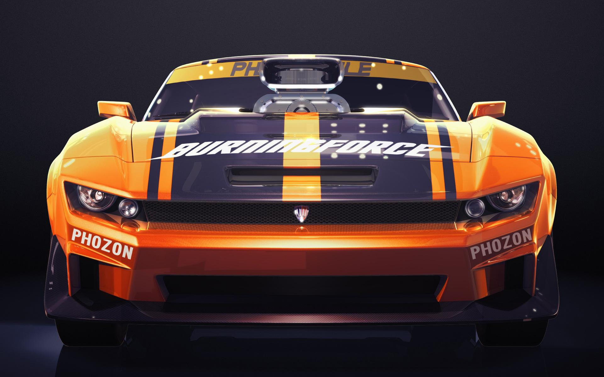Обои Chevrolet Camaro, оранжевый, спортивный