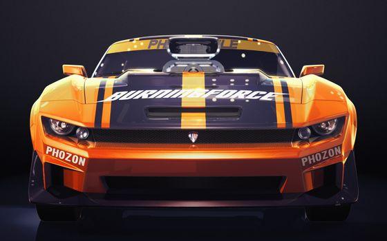 Photo free Chevrolet Camaro, orange, sports