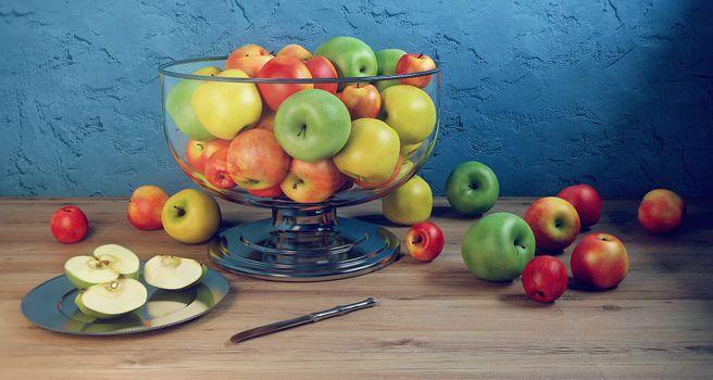 Фото бесплатно яблоки, фрукты, натюрморт