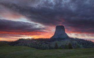 Фото бесплатно вулкан, подножье, деревья