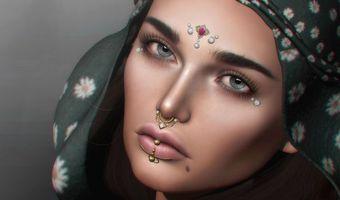 Фото бесплатно девушка, лицо, украшения