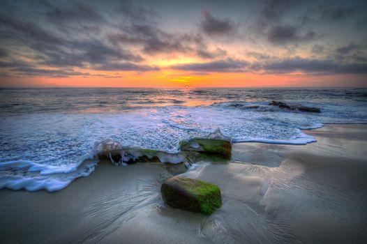 Фото бесплатно закат, море, берег