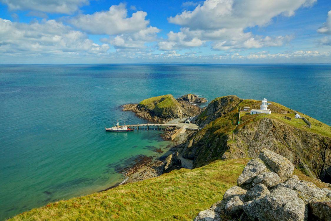 Фото бесплатно Lundy Island, Девон, Англия, Южный Уэльс, остров, маяк, пейзаж, пейзажи