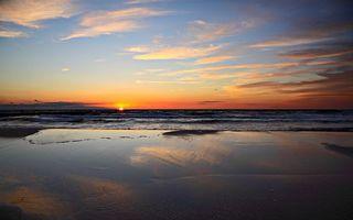 Фото бесплатно побережье, горизонт, солнце