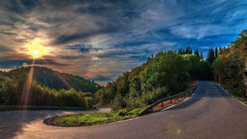 Фото бесплатно извилистая дорога, горная местность, асфальт