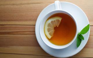 Бесплатные фото чай,чашка,лимон,стол,мята