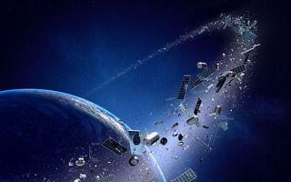 Фото бесплатно космический мусор, разбитые спутники, орбита, мусор, планета Земля