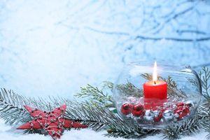 Фото бесплатно Новый год, свечи, дизайн