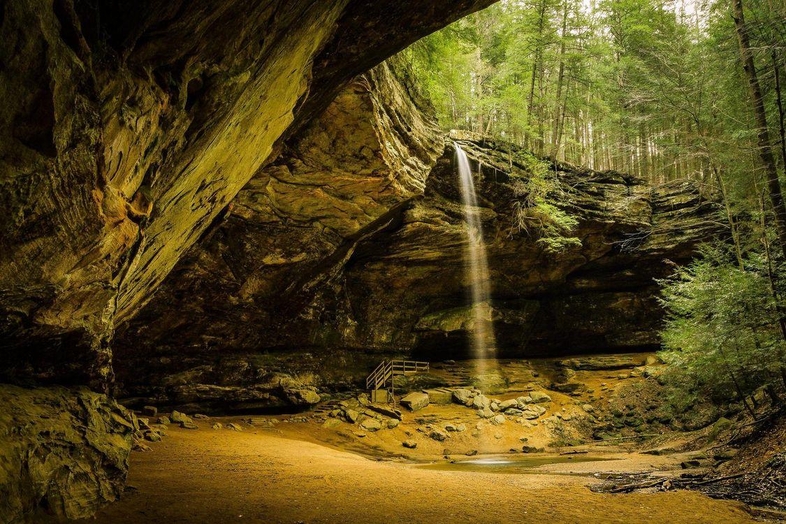 Фото бесплатно Hocking Hills State Park, Ohio, Ash Cave Falls - на рабочий стол