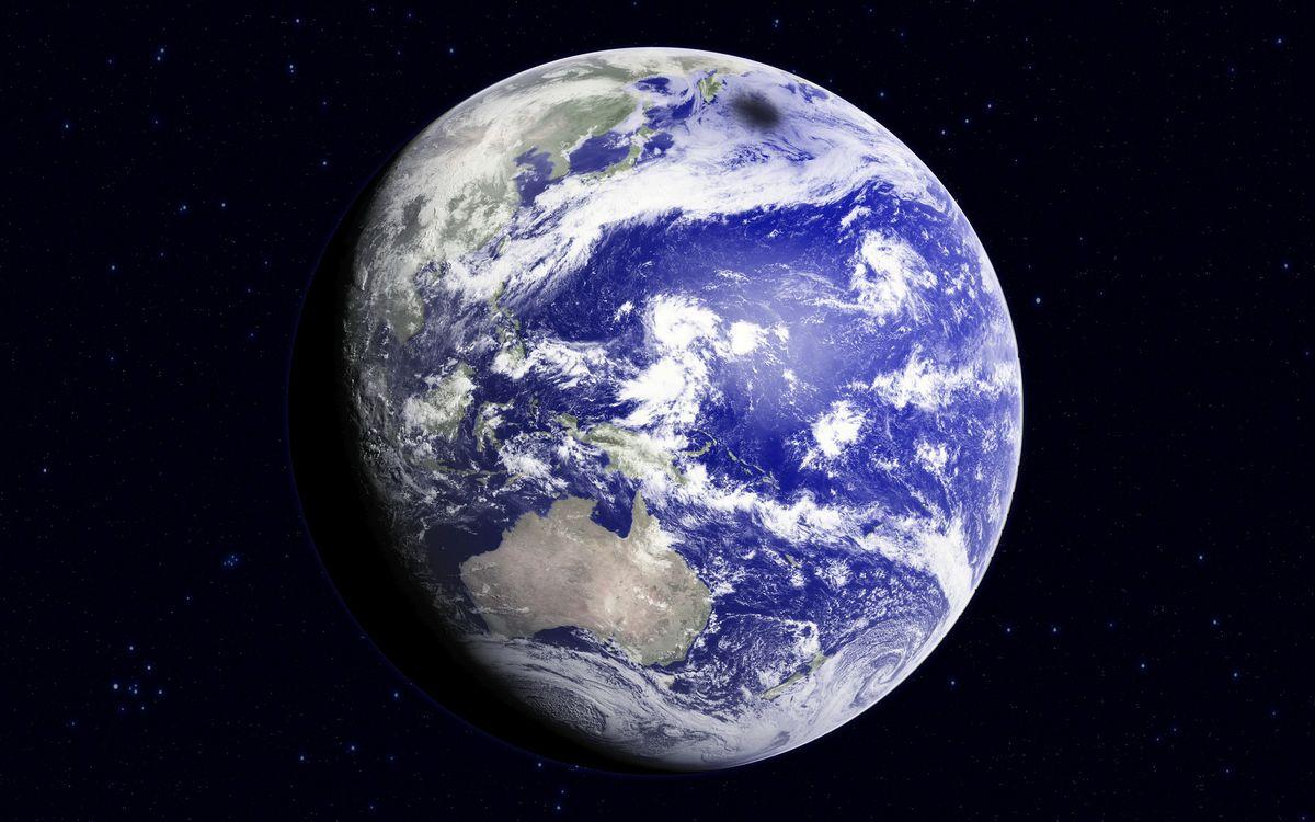 Free photo planet, earth, stars - to desktop