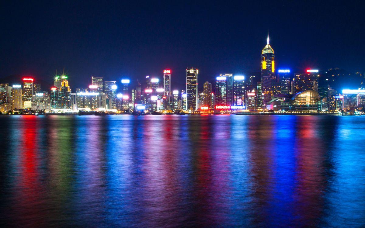 Фото бесплатно речка, города, свет - на рабочий стол