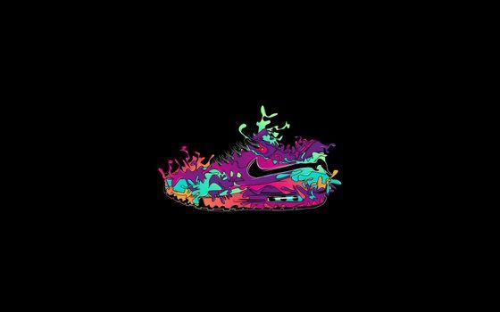 Фото бесплатно рисунок, кроссовок, цветной