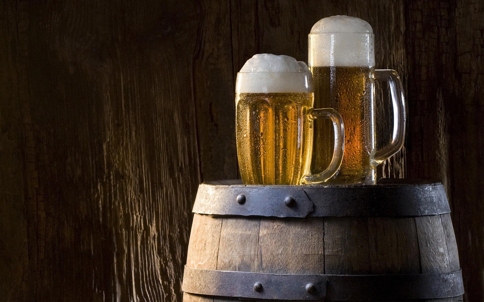 бочка, кружки, пиво