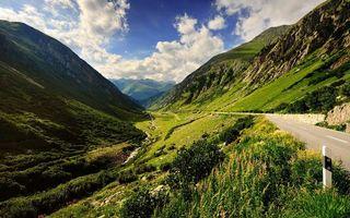 Фото бесплатно горы, трава, ручей