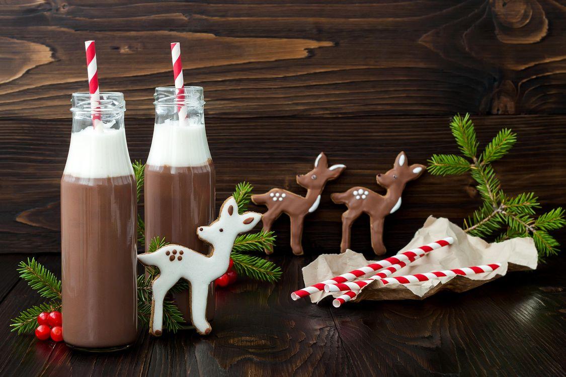 Фото бесплатно новый год, какао, шоколад - на рабочий стол