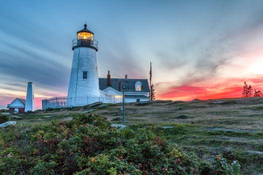Фото бесплатно Pemaquid Point, Новая Англия, закат