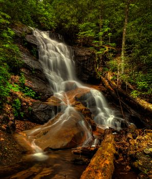 Photo free Log Hollow Branch Falls, Pisgah National Forest, North Carolina
