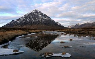 Бесплатные фото осень,заморозки,река,камни,лед,трава,горы