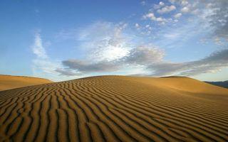 Фото бесплатно пустыня, песок, дюны, барханы, волны, небо, облака
