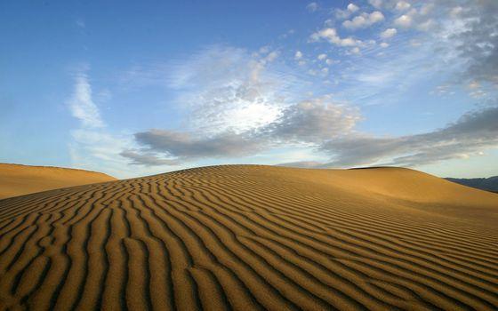 Photo free desert, dunes, sky